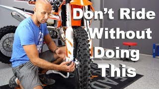New Or Used Dirt Bike Setup Tips   BEFORE YOU RIDE