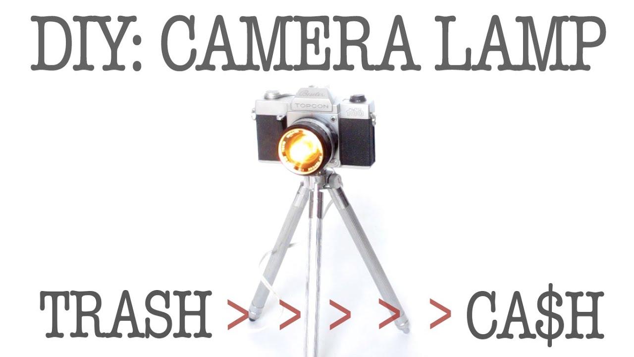DIY | VINTAGE SLR CAMERA LAMP | TURNING TRASH INTO CASH ...