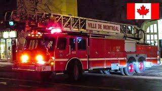 Montréal | *'90s DETROIT DIESELS* Montréal Fire Service (SIM) Pumper 284 & Ladder 483 Responding