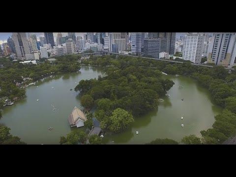 Lumpini park, Drone footage//ルンピニ公園 ドローン空撮//สวนลุมพินี  DJI Phantom3