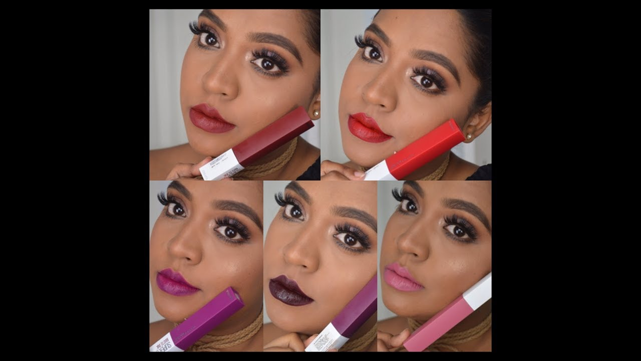 Maybelline Matte Ink Lipstick Swatches On Brown Skintone