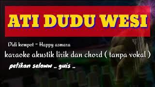 Ati dudu wesi // Didi kempot feat Happy Asmara ( karaoke gitar akustik )