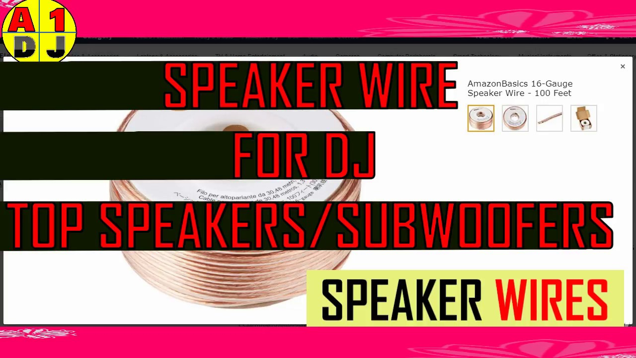 buy dj speaker wire for top and subwoofer with full calculation [ 1280 x 720 Pixel ]