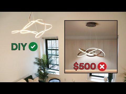 DIY Abstract Light Fixture On a Budget (Renter-Friendly!)