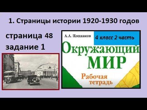 СССР/Страницы истории 1920-1930-х годов №1 (Окружающий мир 4 класс Крючкова)