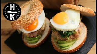Fully loaded Breakfast burger - McBuffin Meal