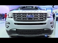2017 Ford Explorer XLT 4WD - Exterior and Interior Walkaround - 2017 Detroit Auto Show