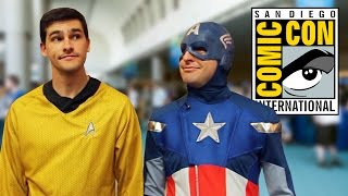 captain america and captain kirk do comic con