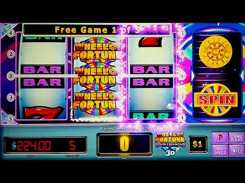 Wheel of Fortune Double Diamond 3D Slot - GREAT SESSION - All Features!
