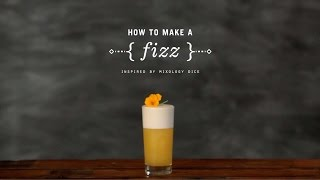 How To Make A Fizz Cocktail With Mixology Dice