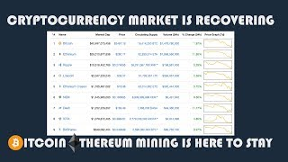 CRYPTOCURRENCY MARKET IS RECOVERING - MINING IS HERE TO STAY & MORE PROFITS TO BE MADE