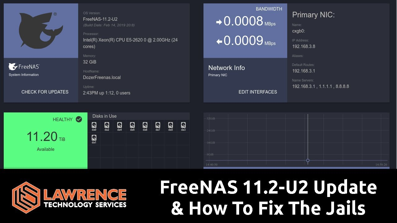 FreeNAS 11 2-U2 Update & How To Fix If Your Jails Are Giving  UnboundLocalError