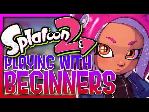 SPLATOON 2 - PLAYING WITH BEGINNERS #3 (Funny Moments)