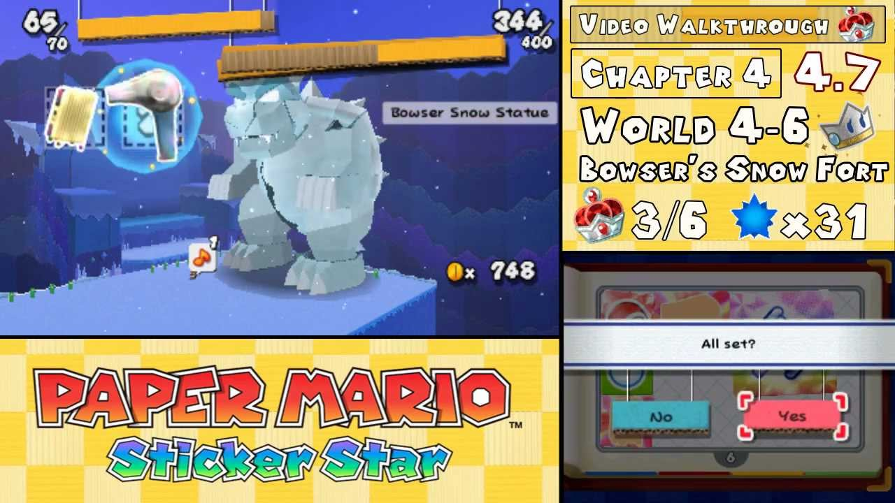 paper mario sticker star world 4 6
