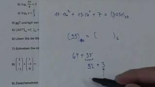 ** Test 3 Refresherkurs Mathe für FH