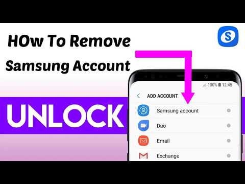 How To Remove Samsung Account  If You Forget Password Work On All Samsun...