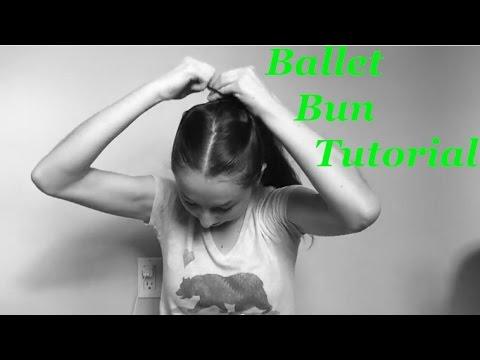 how to make a ballet bun