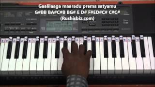 O Priya Priya Piano Tutorials Telugu Geetanjali