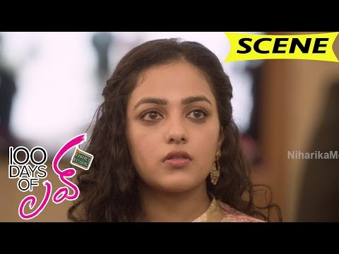 Nithya Menen Acts As Dulquer Girlfriend And Supports - 100 Days Of Love Movie Scenes