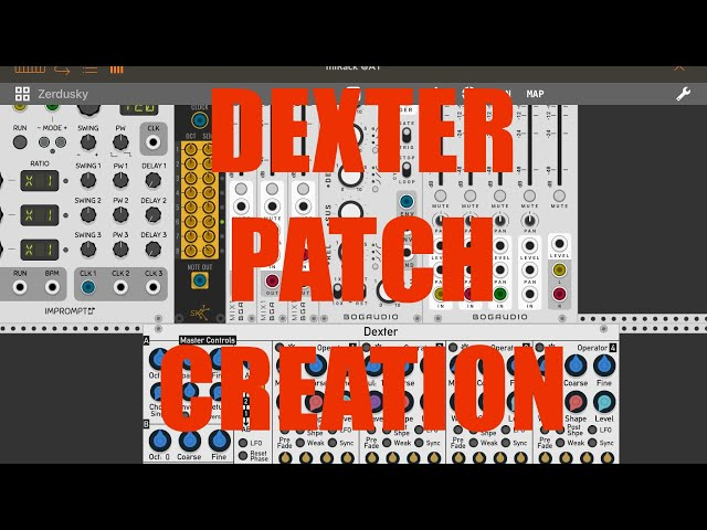 miRack AUv3 - Tutorial: Exploring the app Part 6, Dexter: Patch creation