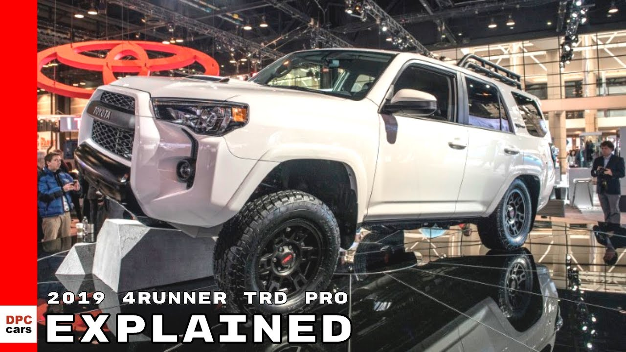 2019 toyota 4runner trd pro explained - youtube