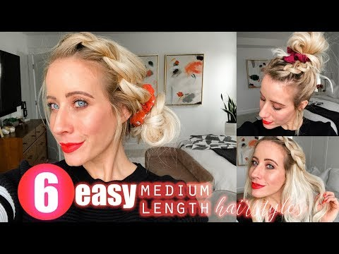 six-medium-length-hairstyles- -easy-fast!!!