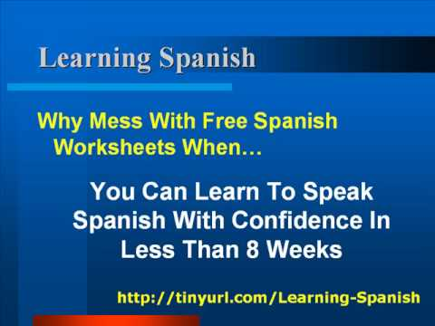 Why Should You Use Free Spanish Worksheets?