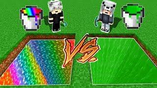 GÖKKUŞAĞI ÇUKURU VS SLİME ÇUKURU! 😱 - Minecraft