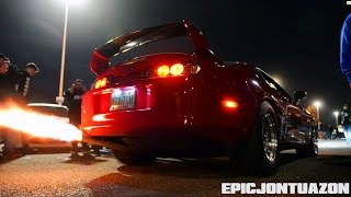 Ridiculous Anti-Lag 2 Step Supra Burnout