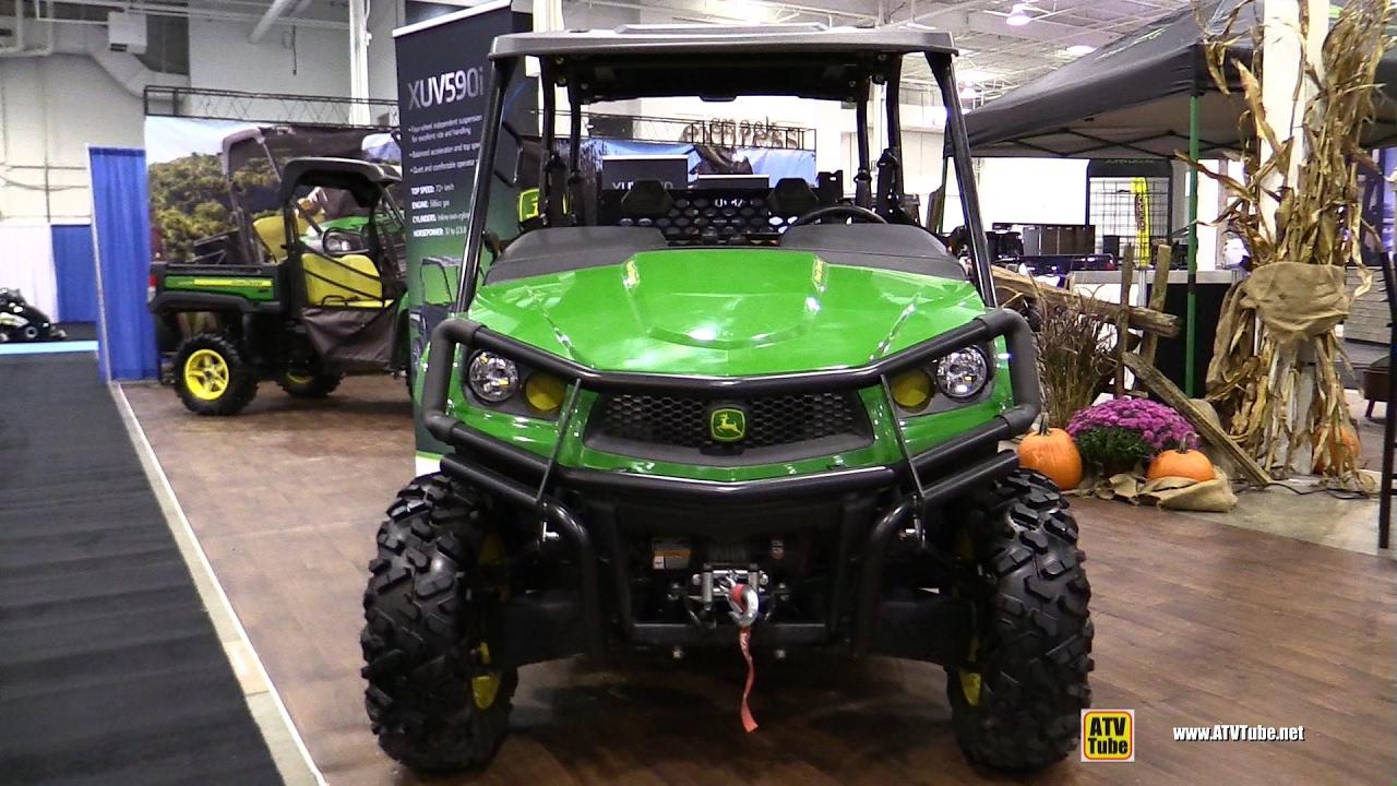 John Deere Xuv >> 2017 John Deere Gator XUV 590i S4 Utility ATV - Walkaround - 2016 Toronto ATV Show - YouTube