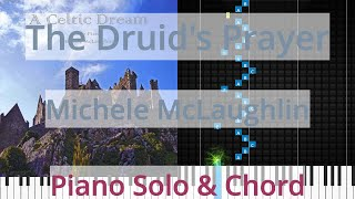 🎹The Druid's Prayer, Solo & Chord, Michele McLaughlin, Synthesia Piano