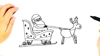 How to draw Santa Claus Sleigh | Easy Draw Tutorial
