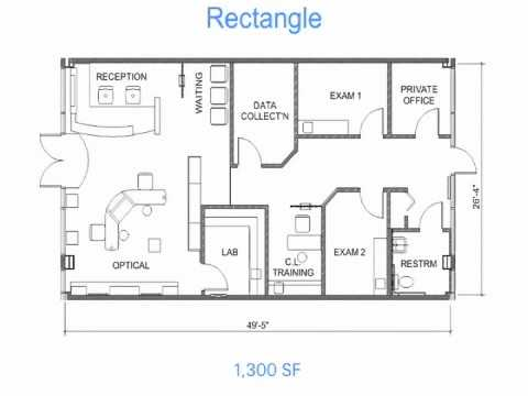 Optical office design secrets 1 floor plan layouts for Small office floor plan