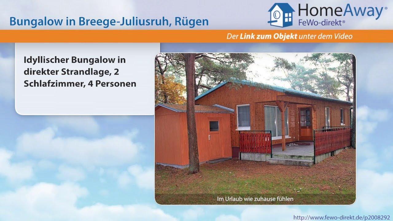 Binz: Idyllischer Bungalow in direkter Strandlage, 2 Schlafzimmer, 4 ...