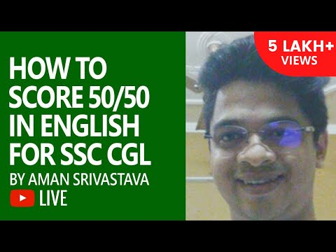 How To Score 50/50 in English for SSC CGL by Aman (Secured 50/50 in English)
