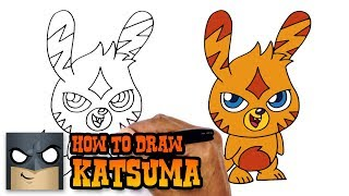 How to Draw Katsuma | Moshi Monsters