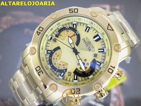 cb8913bede4 Relógio Invicta pro diver 22761 Plaque Ouro nova geração