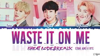 Steve Aoki feat. BTS - 'Waste It On Me (Cheat Codes Remix)' Color Coded Lyrics (Eng)
