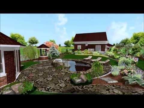 Проект Ландшафтного дизайна участка вытянутой формы