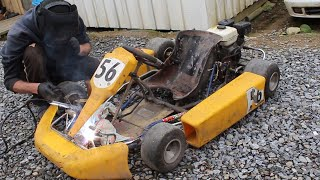 Fixing an old Racing Kart saved from the Scrap Heap..