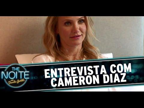 The Noite (20/08/14) - Léo Lins entrevista Cameron Diaz