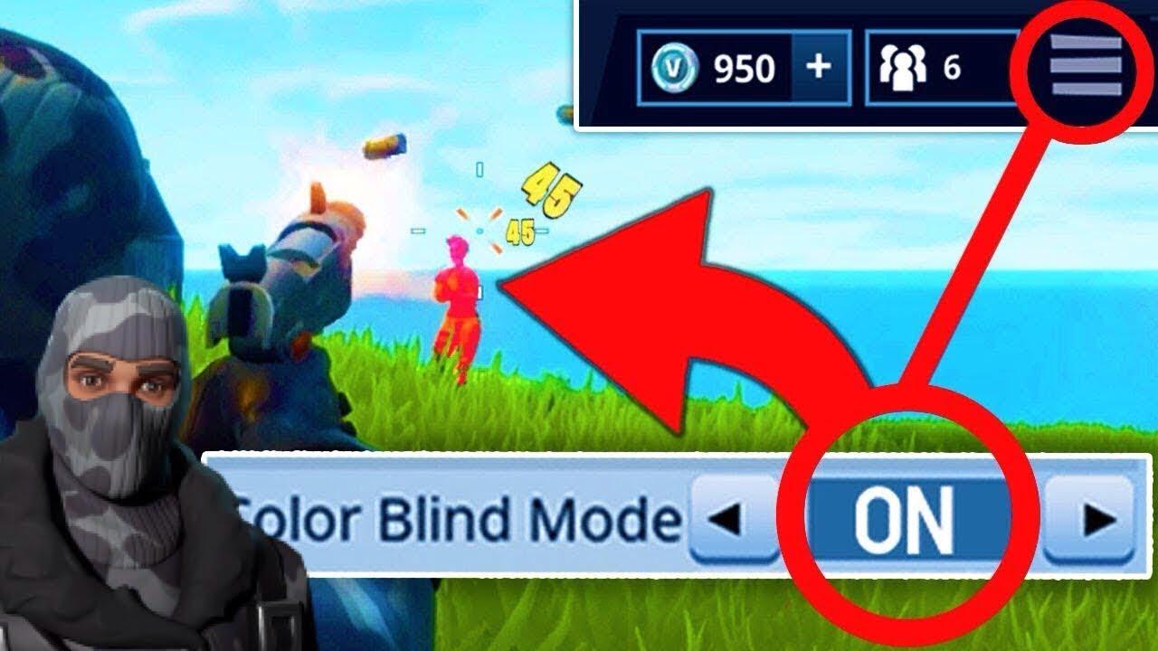 best color blind settings on fortnite - best colorblind mode fortnite