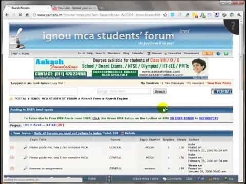 Searching posts in IGNOU MCA Students' Forum