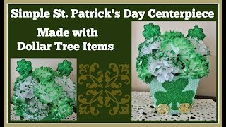 St. Patrick's Day 🍀 Simple Centerpiece Dollar Tree DIY