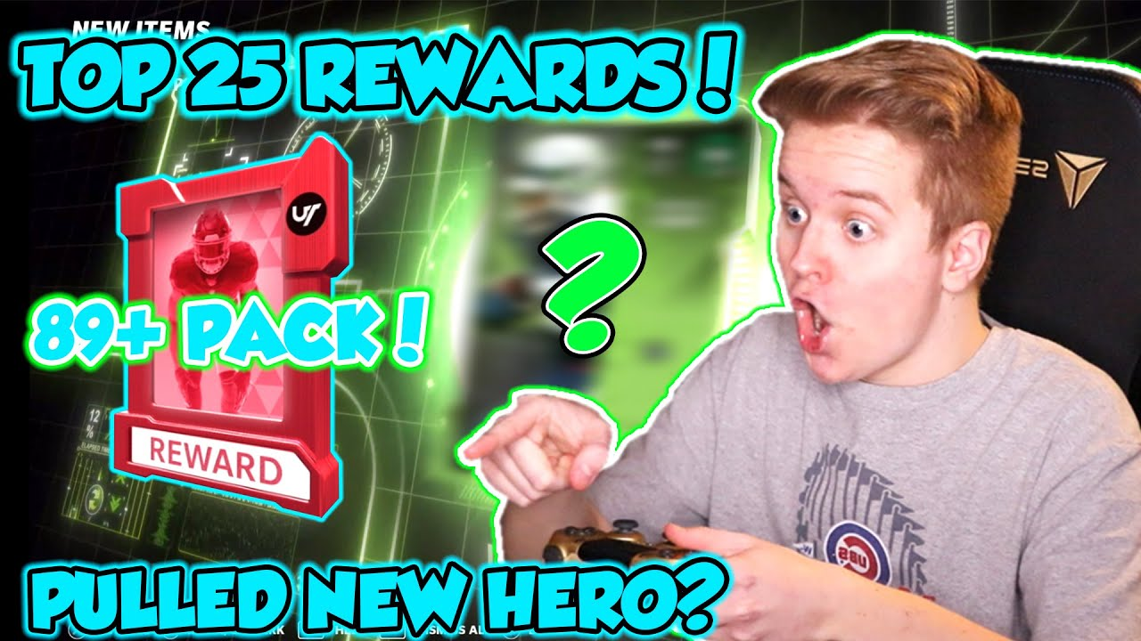 I PULLED A NEW HERO! TOP 25 WEEKEND LEAGUE REWARDS PACK OPENING! Madden 21 Ultimate Team