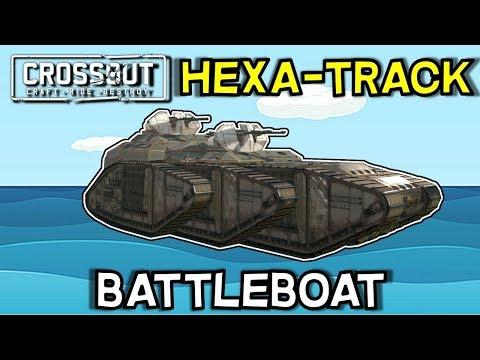 Crossout -- Dual Cyclone Battleship -- 6x Goliath Tracks -- 2.7k armor + 10k in track armor
