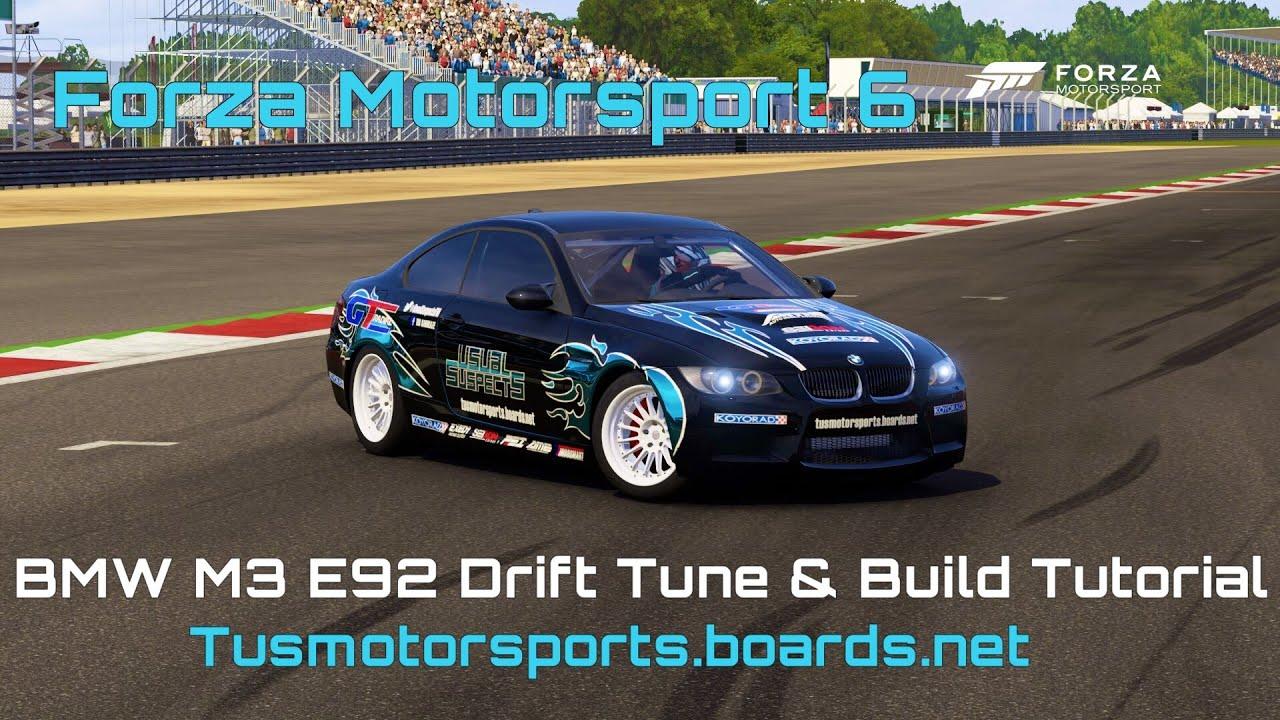 Bmw M3 E92 Drift Build Tune Forza Motorsport 6 Youtube