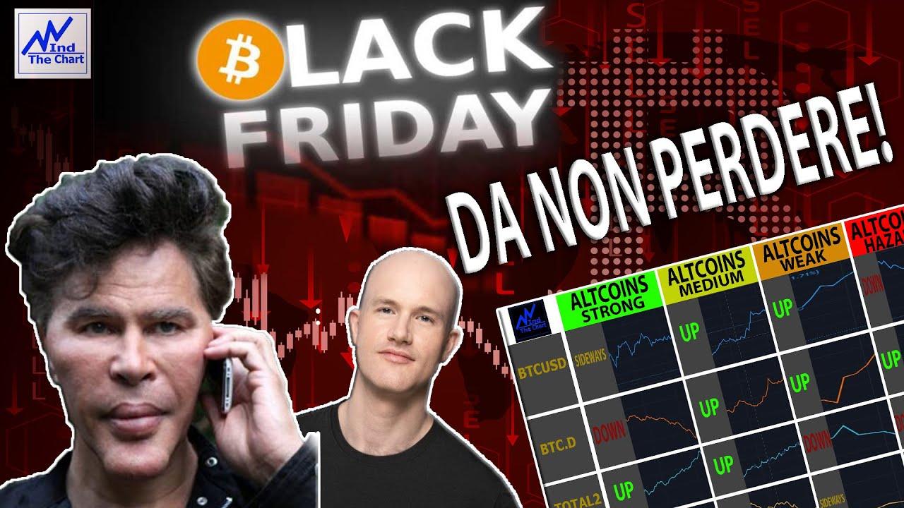 Bitcoin Dump! Black Friday Saldi | Coinbase Fud | Altcoins Sheet|