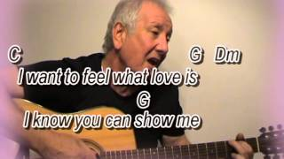 I Want To Know What Love Is - Foreigner cover- easy chords guitar lesson-on-screen chords and lyrics