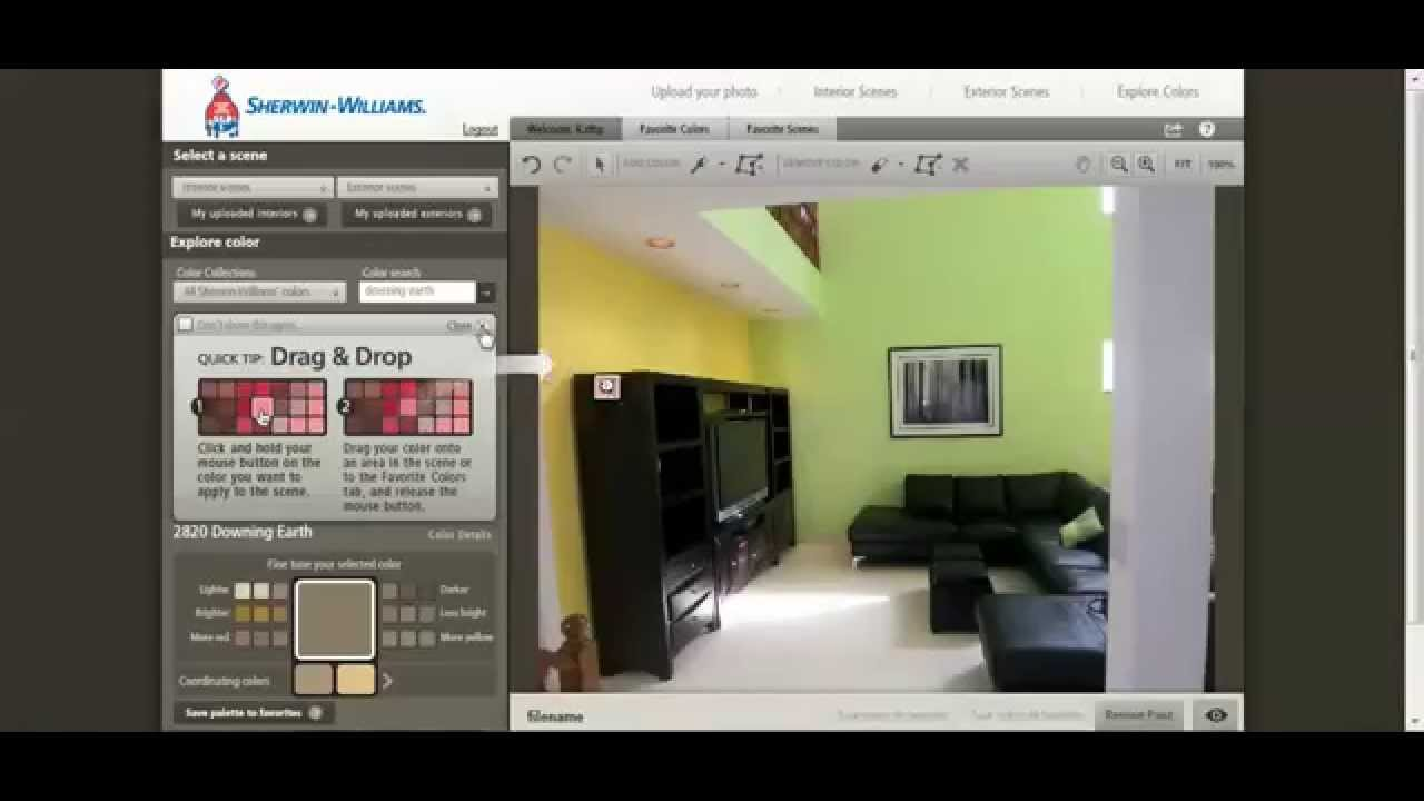Home staging how to paint your room with sherwin williams for Paint your own room visualizer